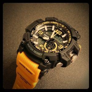 Men's Large Orange Tactical Watch